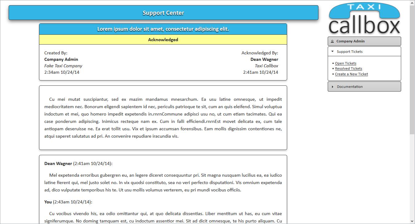 Support - Open Ticket